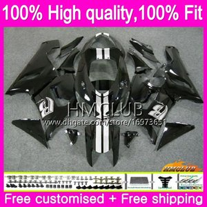 Inyección OEM para Kawasaki ZX 6R ZX636 600cc ZX 6R ZX636 06 56HM.24 Blanco Negro ZX6R ZX600 ZX 636 ZX6R 05 06 2005 2006 100% Fit carenado