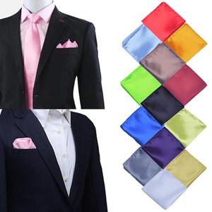 Mode Vintage Solide Couleur Parti de haute qualité Hommes Mouchoir Groomsmen Hommes Pocket Place Hanky mariage d'affaires