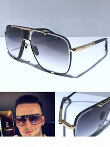 MACH classico cinque Occhiali Da Sole Degli Uomini Del Progettista del metallo di stile di modo dell'annata Outdoor Occhiali Cornice quadrata UV 400 lens con il caso di alta qualità