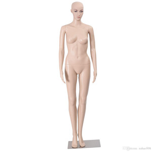 Goplus Female Mannequin Plastic Realistic Display Head Turns Dress Form w  Base