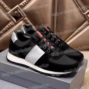 Cuoio del progettista Patchwork Mens Sneakers traspirante Outdoor Walking sport atletico Thick Sole superiore Scarpe da corsa BGMX