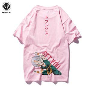 Ruelk Dragon Ball Camiseta Hombres Verano Top Dragon Ball Z Super Son Goku Cosplay Camisetas divertidas Anime Vegeta Dragonball camiseta Top Y190509