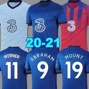 20 21 camisa de futebol camisa de futebol ZIYECH LAMPARD ABRAHAM Camiseta de futbol MOUNT WERNER 2020 2021 PULISIC Kante pé maillot de