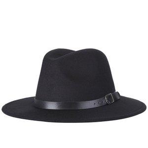 2018 Yeni Moda Erkekler Fedoras kadın Moda Caz Şapka Sonbahar ve Kış Siyah Yün Blend Kap Açık Rahat Şapka