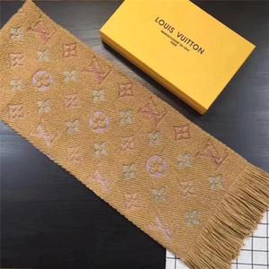 Mode-Winter-Logomania SHINE Schal-Qualitäts-Wolle-Seide-Schal Frauen und Seiten Schwarz Rot Seide Wolle Lange Schal Blumen Schal