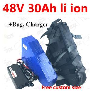 GTK 48v 30ah triangle batterie au lithium BMS li-ion rechargeable pour 1000w 2000w ebike électrique vélo vélo + 5A chargeur + sac