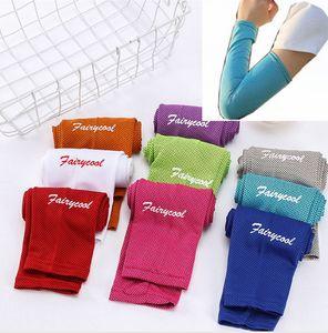 Protezione solare Ice Seta manica Ciclismo Sport Outdoor manicotti del braccio unisex lunghi guanti di protezione solare manica DDA40