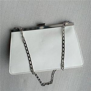 Belle2019 Leather Genuine Woman Temperament Hand Take Joker Chain Single Shoulder Clip Package