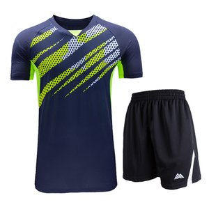 2019 New Badminton Suit, Badminton da uomo a maniche corte + pantaloncini, maglie da tennis, abbigliamento da ping pong ad asciugatura rapida