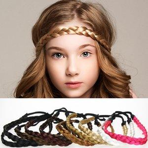 Peluca trenzada de DHL Diademas elásticas Bandas para el cabello Accesorios para el cabello de moda para niñas Mujeres Hermosas decoraciones para el cabello 1.5cm