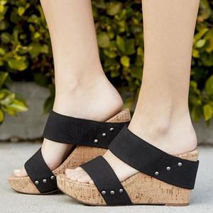 YOUYEDIAN Sommer Womens Atmungsaktive Dicke Unterseite Retro Keil Sandalen Wohnungen Römische Hausschuhe zapatos de mujer