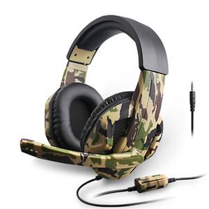 Camuflaje libre del envío estéreo con micrófono Deep Bass PS4 / PS3 / for Computer jugador del juego de auriculares