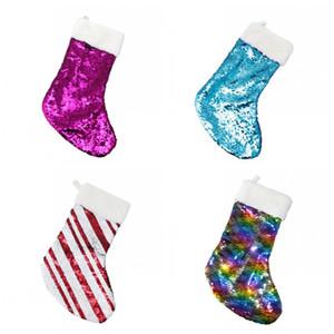 Yeni Noel Süsleme Döner Pullarda Çorap Ağacı Kolye Ev Dekorasyon Şeker Hediyeler Çizgili Çanta Parti Çoklu Stil 8hsH1 Malzemeleri