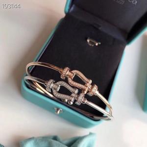 Luxe Force 10 Classique Designer S925 Argent Sterling Plein cristal Infinity Boucle Charm Bracelet ronde pour femmes Bijoux