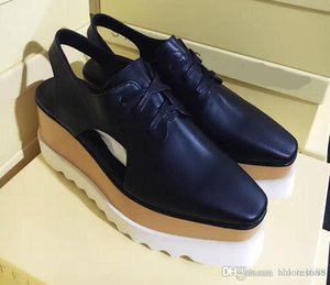 Hot Sale Stella Mccartney Women Cut-Out Platform Shoes Top Quality Ladies Thick Heels Flats Wedges Oxfords Elyse Sneakers Slingback Sandals