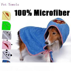 Fashion Series Dog Pet de banho Dog produtos Toalha 100% microfibra super macio toalha pet absorvente 4 tamanhos 6 cores atacado