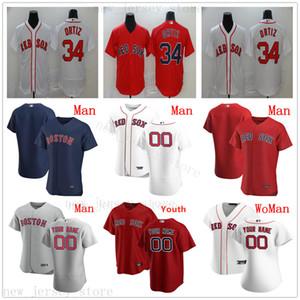 Özel 2020 Beyzbol 54 Andrew Cashner Formalar 11 Rafael Devers 41 Chris Satış 28 JD Martinez Ted Williams Jose Peraza Bay Çocuk Kadınlar