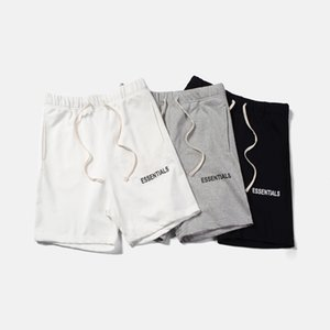 QoolXCWear hip hop pantalones cortos Justin Bieber Streetwear Esencial FOG Pantalones cortos para hombres / mujeres pone en cortocircuito negro / gris / blanco M-XL Y200108