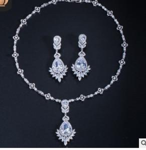 più colore diamante cristallo sposa sposa jewerly set orecchini collana orecchini ((45cm) orecchini (94.8rere)