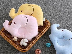 Baby Shaping Pillow Soft Cotton Lovely Cartoon Sleep Head Positioner Anti-rollover Elephant Head Protection Newborn Gift Support
