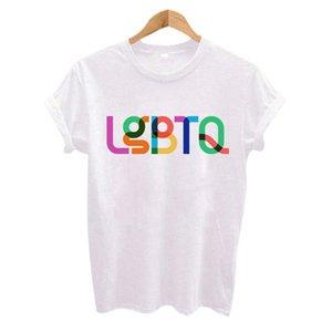 Pride LGBT Mese 2018 uomini della maglietta LGBTQ Orgoglio Tee Hip Hop manica corta Casual donna Printed T-parte superiore della maglietta di formato S-3XL