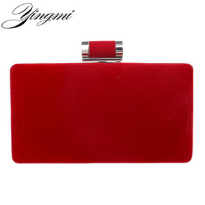 YINGMI New arrival women fashion evening bags clutch evening bag black red handbags with chain women messenger shoulder bags T200223