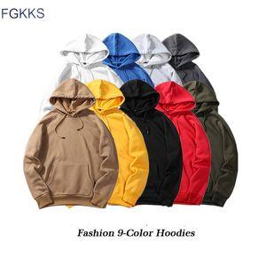 FGKKS Fashion Brand Men Casual Felpa con cappuccio 2019 Autunno maschio Tinta unita Pullover con cappuccio Unisex Casual Felpa con cappuccio Top Maschio Taglia EU S-2XL