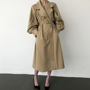 CHIC Autumn Clothing Retro British Style Loose Suit Collar Trench Coat Women's Elegant Double-breasted Windbreakers Sim Overcoat