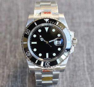 N V8 fábrica 116610ln dos homens ETA 2836 automático de 40 milímetros relógio mecânico 904L topo de aço inoxidável Sapphire