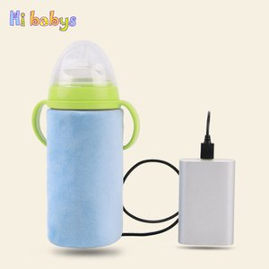 Portable USB Baby Bottle Warmer Milk Travel Cup Warmer Heater Infant Feeding Bottle Bag Storage Cover Insulation Thermostat