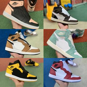 Продажа 2020 Новый 1 High OG GS Чикаго Баскетбол обувь Дешевые Retroes Черный Розовый Бред UNC Синий Белый Toe Мужчины Женщины 1S Turbo V2 Presto обувь