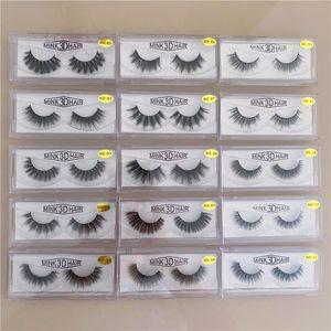 15style 3d Mink Hair Fake Eyelash mink HAIR false eyelashes natural Extension fake Eyelashes false lashes