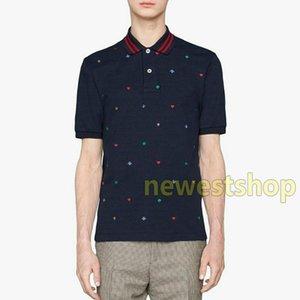 20SS alta versión Made in Italy clásico bordado Polo de manga corta ocasional de asunto simple Tooling la camiseta del polo calle del verano tee Sólido