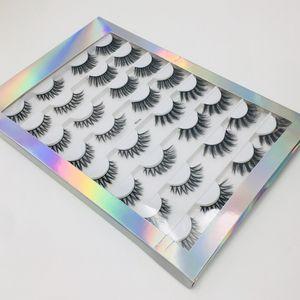 Reusable handmade Mink false eyelashes set 16 pairs thick natural long vivid fake lashes extensions with luxury packing 6 mdoels DHL Free