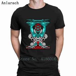 Psychedelische Girl Art Hippie Trippy buntes Geschenk-T-Shirt aus Baumwolle Frühling und Herbst los Comical Printed-Rundhalsausschnitt-Ausstattungs-Hemd