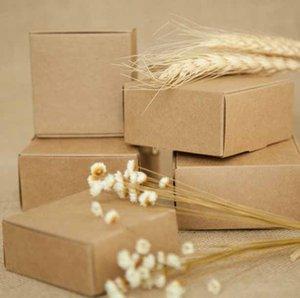 Presente barato Bags Embalagem Suprimentos 2017 Papel Kraft New DIY Box caixa de presente para favores do casamento da festa de aniversário dos doces Bolinhos do Natal