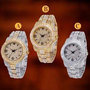 Topgrillz Congelado Para Fora Baguette Relógio De Quartzo De Ouro Hip Hop Relógios De Pulso Com Micro Pave Cz Aço Inoxidável Relógio Pulseira Horas Y19051503