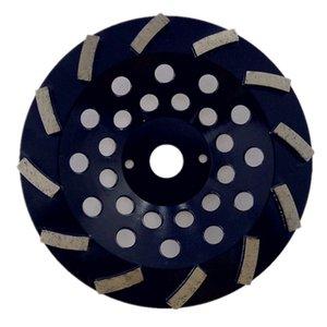 GD39 concreto Piso Polishing Pad 7 polegadas diamante rebolo Cup Grinding Disc com 12 segmentos para concreto Piso 9PCS