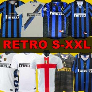 finales 2009 2010 MILITO SNEIJDER ZANETTI Maillots de foot rétro Pizarro MILAN Football 1997 1998 97 98 99 Djorkaeff Baggio RONALDO Inter 02 03