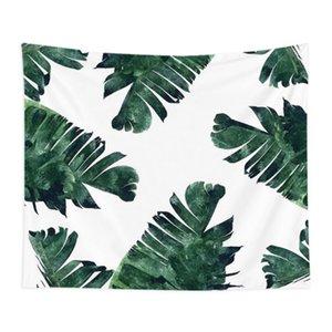 piante verdi tropicali nordici appeso a parete Arazzi Mandala Bohemian Tapestry Paesaggio Wallpaper Wall Art Scialle tiro