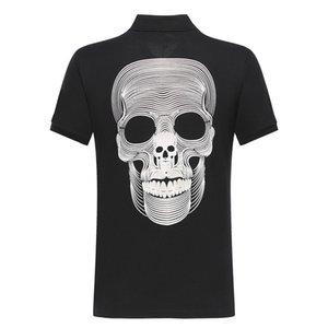 DUYOU nueva manera de la ropa de los polos de los hombres cortos de diseño de la marca bordado ocasional cráneo calidad superior ADP701147 algodón masculino 100%