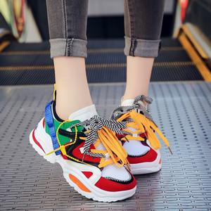 Triple S INS donne corrono scarpe da tennis 2019 scarpe multi colore Thick Sole della piattaforma delle signore Altezza crescente Shoes robusti uomini formato dei pattini correnti