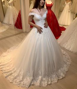 2020 Arabic Aso Ebi Cheap Lace Beaded Wedding Dresses A-line Tulle Vintage Bridal Dresses Elegant Wedding Gowns ZJ354