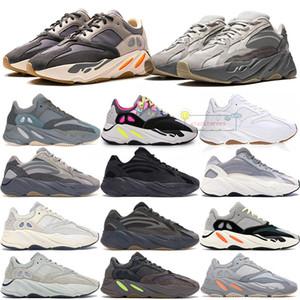Kanye West обувь 700 V1 V2 Teal Синего Vanta Utility Black Magnet тефра Трейнеры кроссовок с BOX кроссовками
