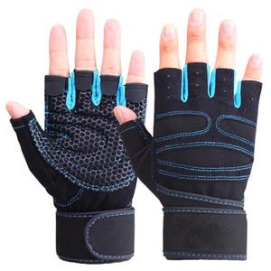 FASHION- femmes Gants demi-doigt fitness Haltérophilie Gants Protection formation poignet Gym Gants Sport Haltérophilie Fingerless