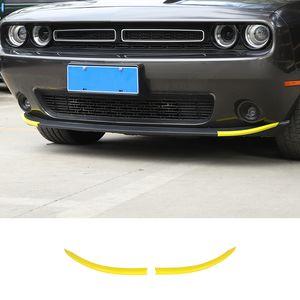 Желтый переднего бампера Lip Cover Обрезка Styling рамка рамка для Dodge Challenger 2015 UP автомобилей Аксессуары для интерьера