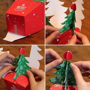 Contenitore di regalo Albero di Buon Natale Candy Box Bag 3D Christmas Box con campane Paper Bag contenitore Forniture Navidad GA489