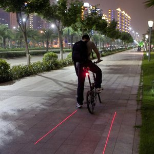 Bicycle Laser Taillight 5led Parallel Line Laser Taillights Mountain Bike