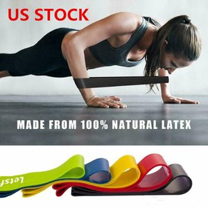 US STOCK, Tension Resistance Band Pilates Yoga Rubber Resistance Bands Fitness Loop Rope Stretch Bands Crossfit Elastic Gym FY7008