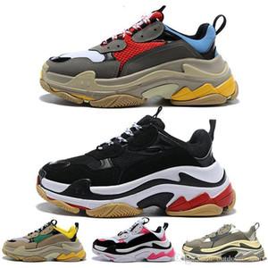 Роскошные мода Тройной с пары 17fw женщин мужская Повседневная обувь выпуск 3 .0 Дизайнерская Обувь На Платформе Tripler Triple S Кроссовки